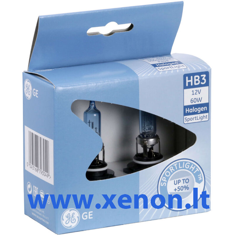 GE HB3 9005 Sport Light +50% lemputės-2