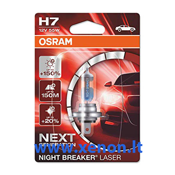 OSRAM H7 Night Breaker LASER +150 lemputės-2